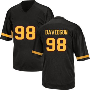 Men's D.J. Davidson Arizona State Sun Devils Adidas Game Black Football College Jersey