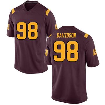 Men's D.J. Davidson Arizona State Sun Devils Nike Replica Maroon Football College Jersey