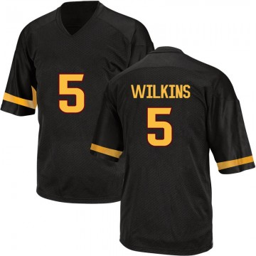 Men's Manny Wilkins Arizona State Sun Devils Adidas Game Black Football College Jersey