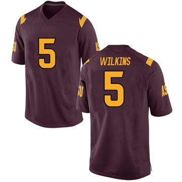 Men's Manny Wilkins Arizona State Sun Devils Nike Replica Maroon Football College Jersey