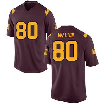 Men's Mark Walton Arizona State Sun Devils Nike Replica Maroon Football College Jersey