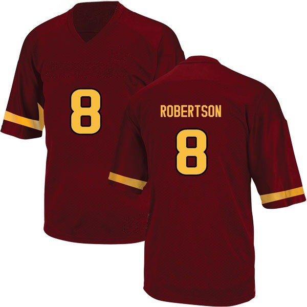 Men's Merlin Robertson Arizona State Sun Devils Adidas Game Maroon Football College Jersey