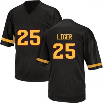 Men's Preston Liger Arizona State Sun Devils Adidas Replica Black Football College Jersey