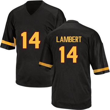 Men's Stanley Lambert Arizona State Sun Devils Adidas Game Black Football College Jersey