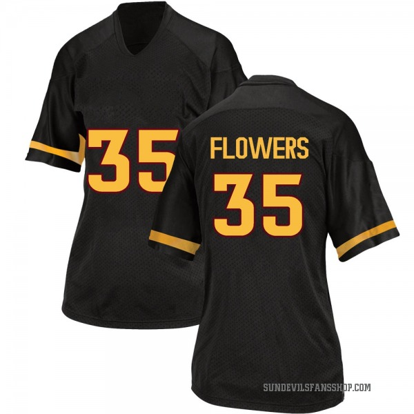 Women's Thaiger Flowers Arizona State Sun Devils Adidas Game Black Football College Jersey