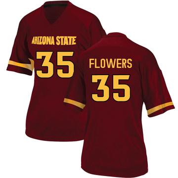 Women's Thaiger Flowers Arizona State Sun Devils Adidas Replica Maroon Football College Jersey