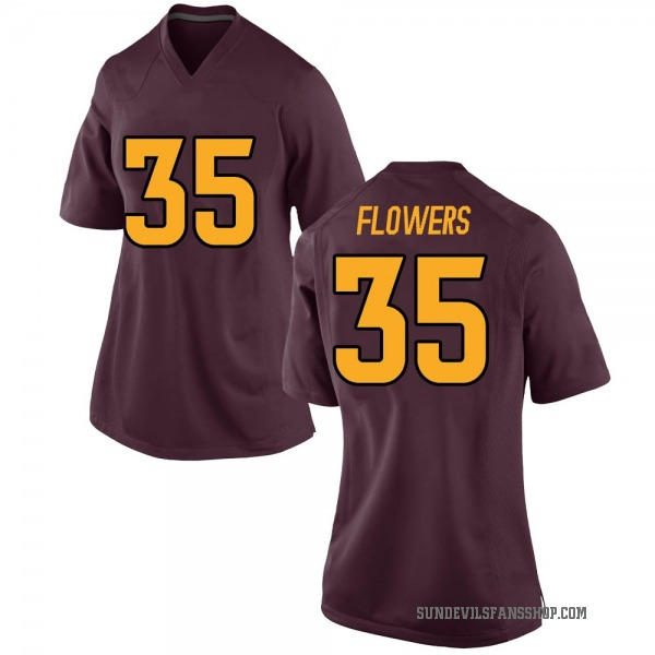 Women's Thaiger Flowers Arizona State Sun Devils Nike Game Maroon Football College Jersey