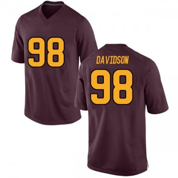 Youth D.J. Davidson Arizona State Sun Devils Nike Game Maroon Football College Jersey