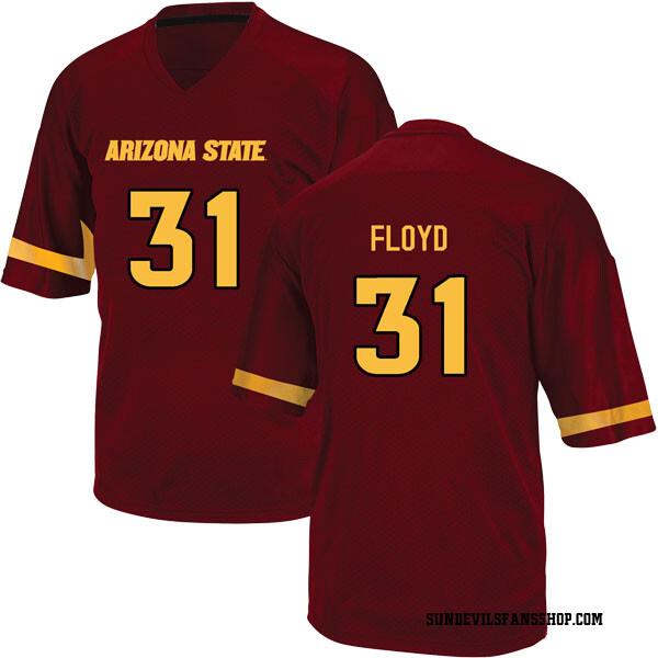 Youth Isaiah Floyd Arizona State Sun Devils Adidas Replica Maroon Football College Jersey