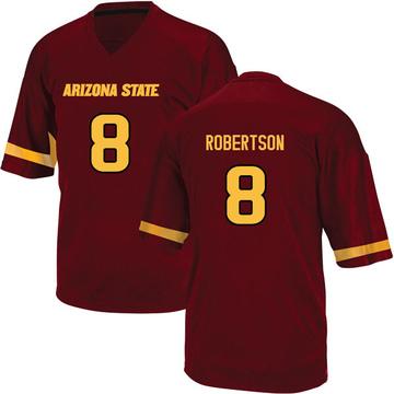 Youth Merlin Robertson Arizona State Sun Devils Adidas Replica Maroon Football College Jersey