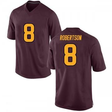 Youth Merlin Robertson Arizona State Sun Devils Game Maroon Football College Jersey