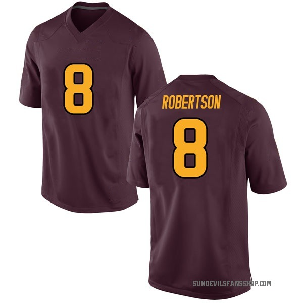 Youth Merlin Robertson Arizona State Sun Devils Nike Game Maroon Football College Jersey
